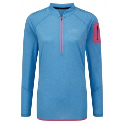 T-shirt ML Trail Zip Femme