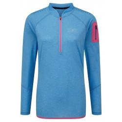 T-shirt ML Trail Zip Femme